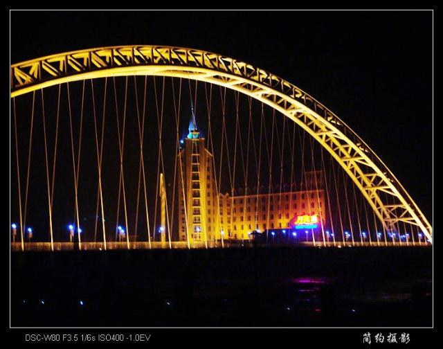 月亮岛大桥夜景