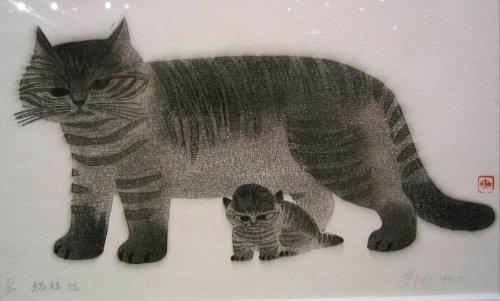 油画猫步骤