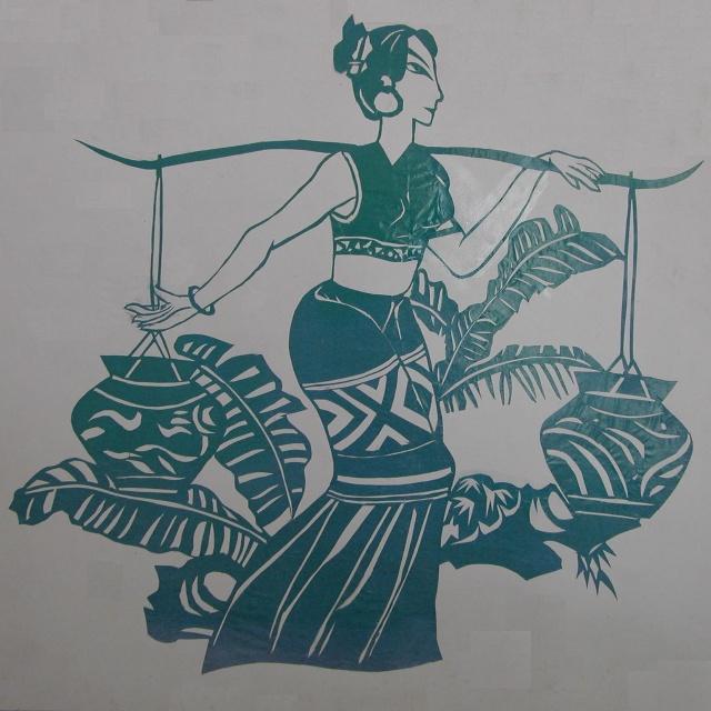 傣族剪纸矢量图