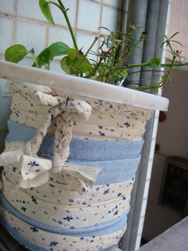 空油桶做的小猪花盆图片