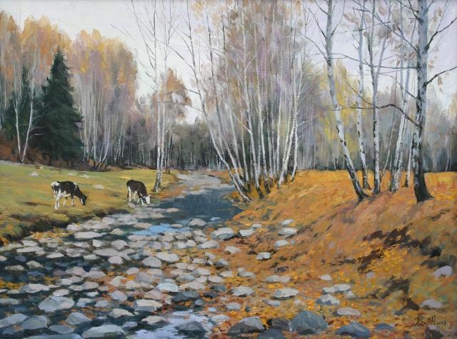 克里木油画图片