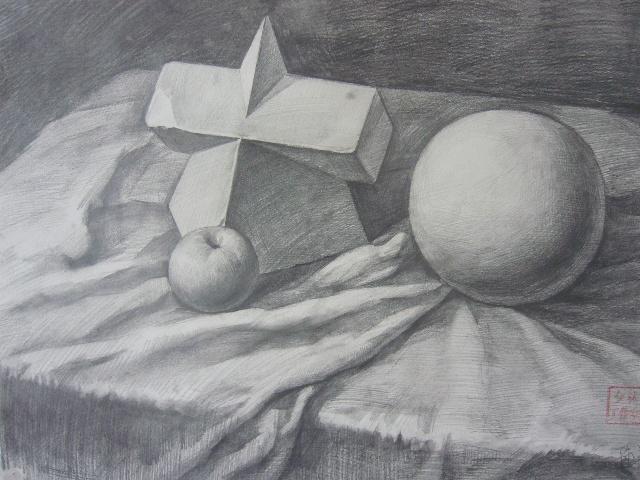 教师黑白线描画范画 教师过渡 感觉黑白鲜明,概括