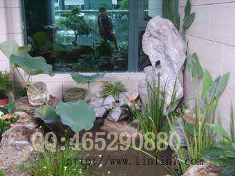 图片:花园设计施工 别墅花园 阳台天台露台空中花园 鱼池石山