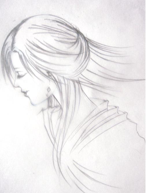 简笔画 手绘 素描 线稿 505_670 竖版 竖屏