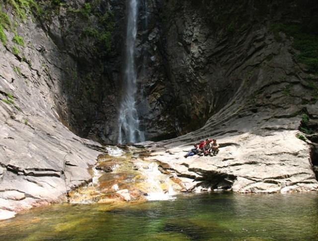 去年五一的兰花湖(宁陕天华山)徒步照片