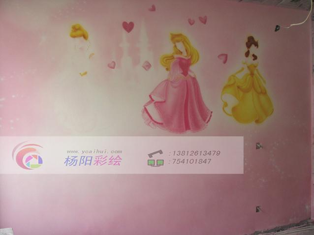 苏州儿童房手绘墙-迪士尼公主系列