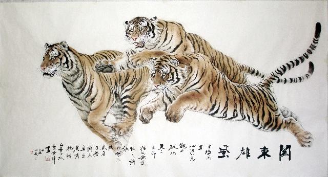 贾 荣 章      虎,俗称老虎,是当今体型最大的猫科动物