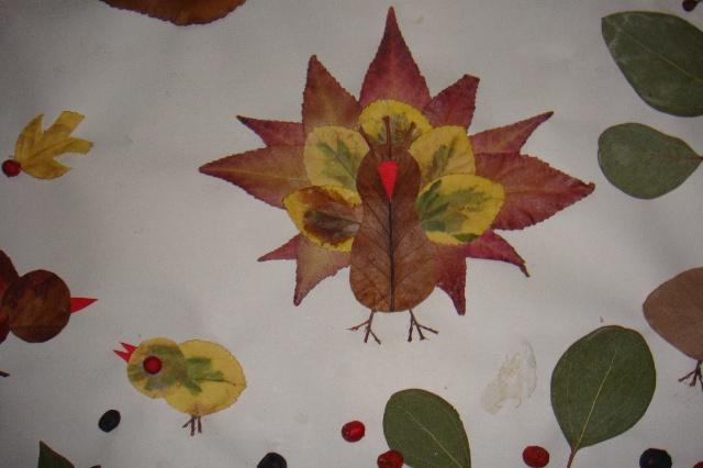 用树叶拼成的画-依林世界-搜狐博客